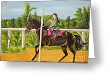 Running The Poles Greeting Card