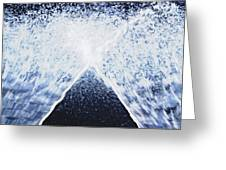 Running Water On Black Background Greeting Card