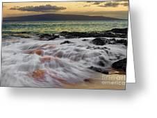 Running Wave At Keawakapu Beach Greeting Card