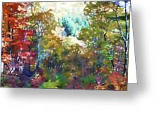 Rural Autumn Landscape Greeting Card