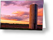 Rural Boulder County Sunset Greeting Card