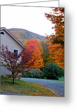 Rural Colorful Autumn Landscape 4 Greeting Card