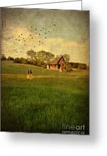 Rural Cottage Greeting Card by Jill Battaglia