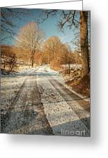 Rural Country Road Greeting Card