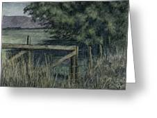 Rural Fence Greeting Card by David King