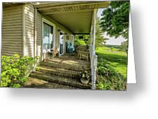 Rural Front Porch Greeting Card