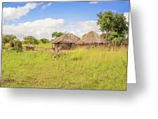 Rural Landscape In Zambia Greeting Card