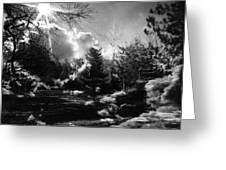 Rural Life In Black And White  Greeting Card