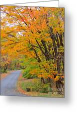 Rural Road Greeting Card