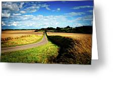 Rural Road In France Greeting Card
