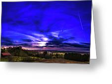 Rural Sunset Panorama Greeting Card