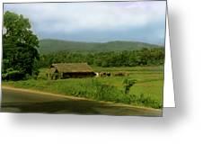 Rural Village Greeting Card