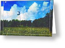 Rural Water Tower Unconventional Greeting Card