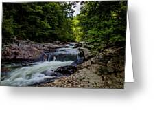Rushing Falls In The Mountains Greeting Card