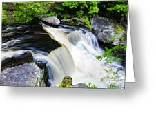Rushing Water On A Mountain Stream Greeting Card