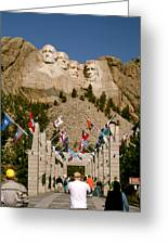 Rushmore State Flags Greeting Card