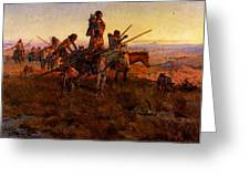 Russell Charles Marion In The Wake Of The Buffalo Hunters Greeting Card