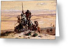 Russell Charles Marion Indians On Plains Greeting Card