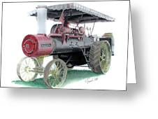 Russell Steam Tractor Greeting Card