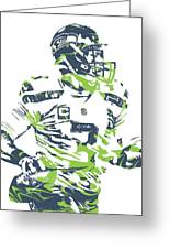 Russell Wilson Seattle Seahawks Pixel Art 10 Greeting Card