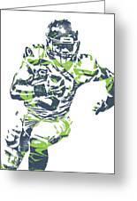 Russell Wilson Seattle Seahawks Pixel Art 12 Greeting Card