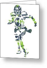 f38b4f1d Russell Wilson Seattle Seahawks Pixel Art T Shirt 2 Greeting Card