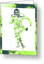 Russell Wilson Seattle Seahawks Water Color Art 1 Greeting Card