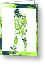 Russell Wilson Seattle Seahawks Water Color Art 2 Greeting Card