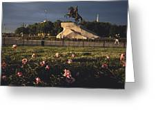 Russia, St. Petersburg, The Bronze Greeting Card by Keenpress