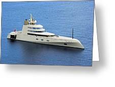 Russian Mega Yacht  A - St Lucia Greeting Card