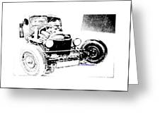 Russian Rat Rod Greeting Card