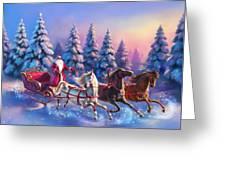 Russian Three-horse Greeting Card
