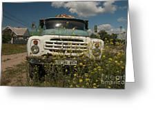 Russian Truck Greeting Card