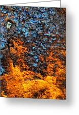 Rust Abstract 3 Greeting Card