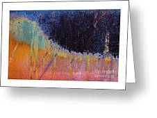 Rust Abstract With Curved Line Greeting Card
