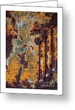 Rust Abstract Car Part Greeting Card