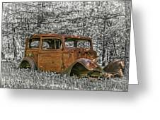 Rust In Peace Greeting Card