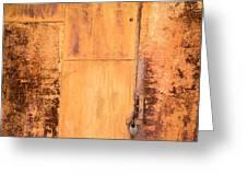 Rust On Metal Texture Greeting Card