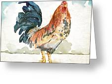 Rust Rooster Greeting Card