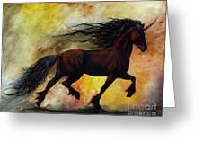 Rust Unicorn Greeting Card