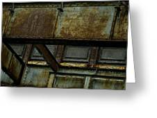 Rusted Steel Support Structure Greeting Card