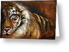 Rusted Tiger Greeting Card