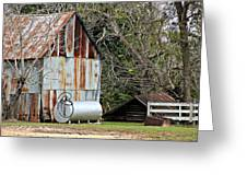 Rusted Tin Shed In Burnt Corn Greeting Card