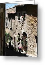 Rustic Provence Alley Greeting Card