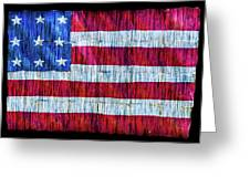 Rustic American Flag Greeting Card