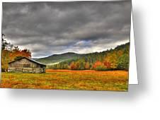 Rustic Autumn Barn Greeting Card