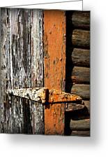 Rustic Barn Hinge Greeting Card