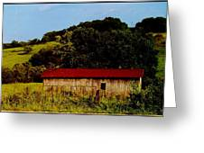 Rustic Barn In Carthage Tennessee Greeting Card