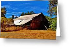 Rustic Barn Of Newcastle Greeting Card