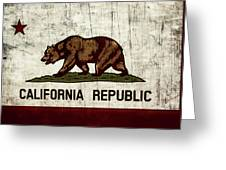 Rustic California State Flag Design Greeting Card